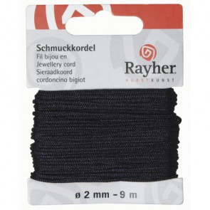 Schmuckkordel, dunkelblau, ø 2 mm, 9 m