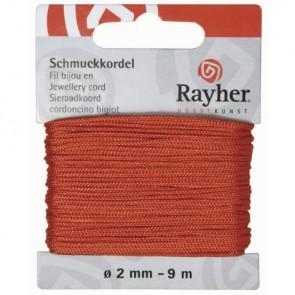 Schmuckkordel, orange, ø 2 mm, 9 m