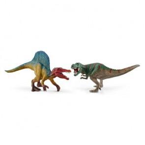 Spinosaurus und T-Rex, klein