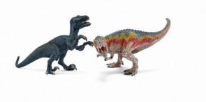 T-Rex und Velociraptor, klein