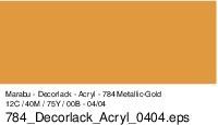 Marabu Decorlack Acryl, Metallic-Gold 784, 15 ml