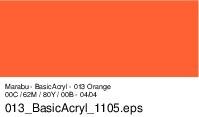 Marabu Basic Acryl, Orange 013, 80 ml