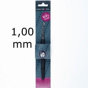 Garnhäkelnadel m.Soft-Griff 14cm 1,00mm