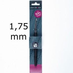 Garnhäkelnadel m.Soft-Griff 14cm 1,75mm