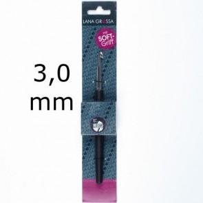 Wollhäkelnadel m.Soft-Griff 14cm 3,0mm