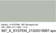 Sprühfarbe a-system, Warmgrau hell 987, 400ml