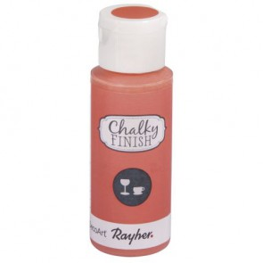 Chalky Finish for glass, lachsrosa, Flasche 59ml