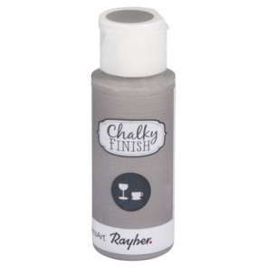 Chalky Finish for glass, hellgrau, Flasche 59ml