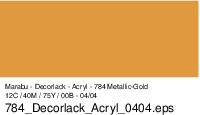 Marabu Decorlack Acryl, Metallic-Gold 784, 15 ml