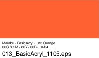 Marabu Basic Acryl, Orange 013, 80 ml
