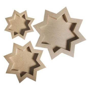 Papp-Schalen Stern, 3 Größen: 15-25cm